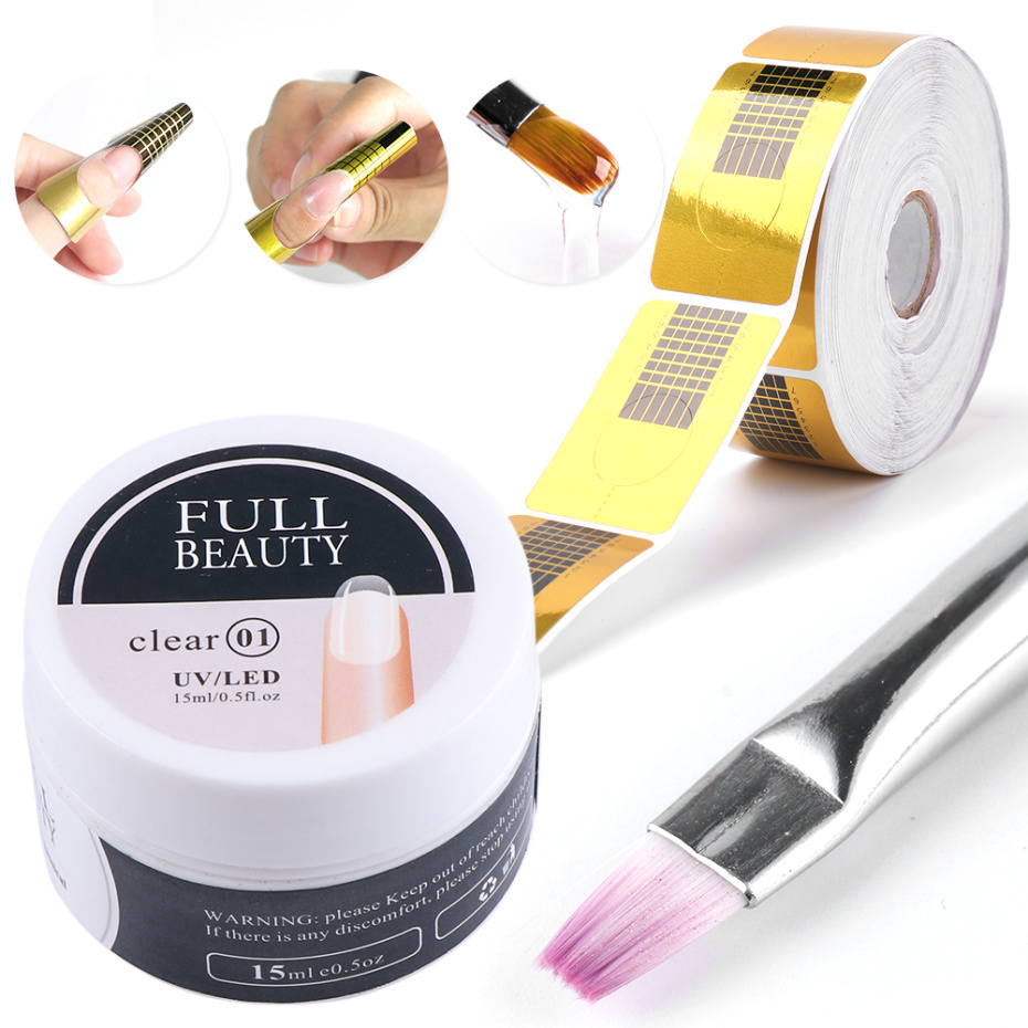 15ml Quick Building Gel for Nail Extension Acrylic White Clear UV Builder Gel Manicure Nail Art Prolong Forms Tips LA1623 6