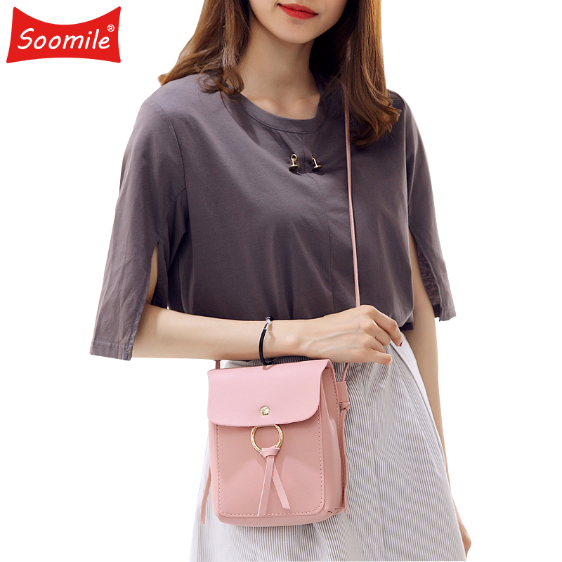 Fashion Young Women PU Leather Small Crossbody Shoulder Bag For Cell Phone Wallet Card 2020 New Mini Girl Handbag