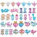 5 шт., смешанные мини-шары для маленьких мальчиков и девочек на первый день рождения, вечерние украшения для детской коляски, корона, Globos