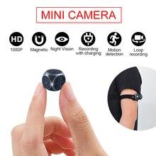 MD21 Mini kamera HD 1080P mikro kamera dijital manyetik vücut hareket algılama anlık döngü kayıt kamera kapalı