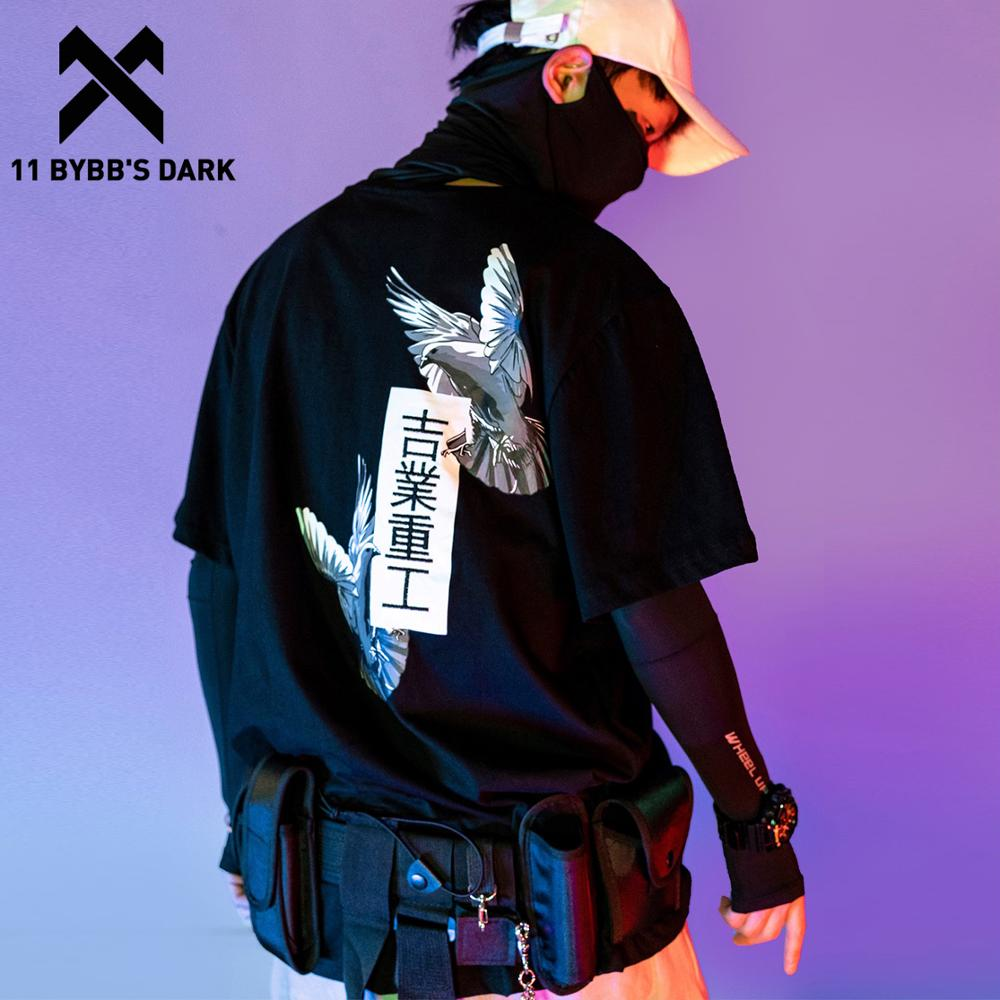 11 BYBB'S SCURO Giapponese Harajuku T Camicette Uomini/Donne 2020SS Pace Colomba Stampa Hip Hop Streetwear Oversize Manica Corta shirtrs