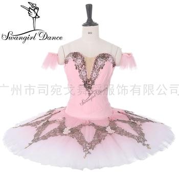 la sylphide pink professional tutu for girls pancake stage costume competiton BT9282