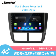 Jansite 9 RDS DSP Car Radio For Subaru Forester 3 2008-2012 Android Touch screen 4G network multimedia video players with Frame