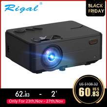 Rigal RD813 미니 프로젝터 1280x720P WiFi 멀티 스크린 프로젝터 홈 시어터 Proyector 3D 영화 HD 프로젝터 지원 1080P