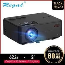 Rigal RD813 Mini projektör 1280x720P WiFi çoklu projeksiyon ekranı ev sineması projektörü 3D film HD projektör desteği 1080P