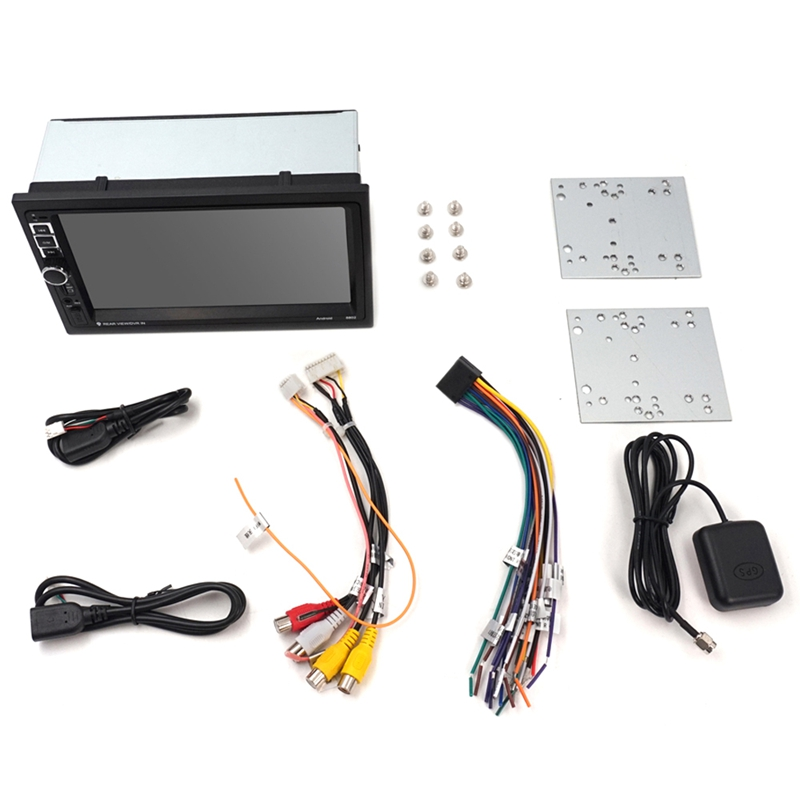Car Radio Android Double Din 7 Inch Press Radio GPS Navigation 2 Din Universal Car Multimedia Player BT FM Stereo Audio 8802