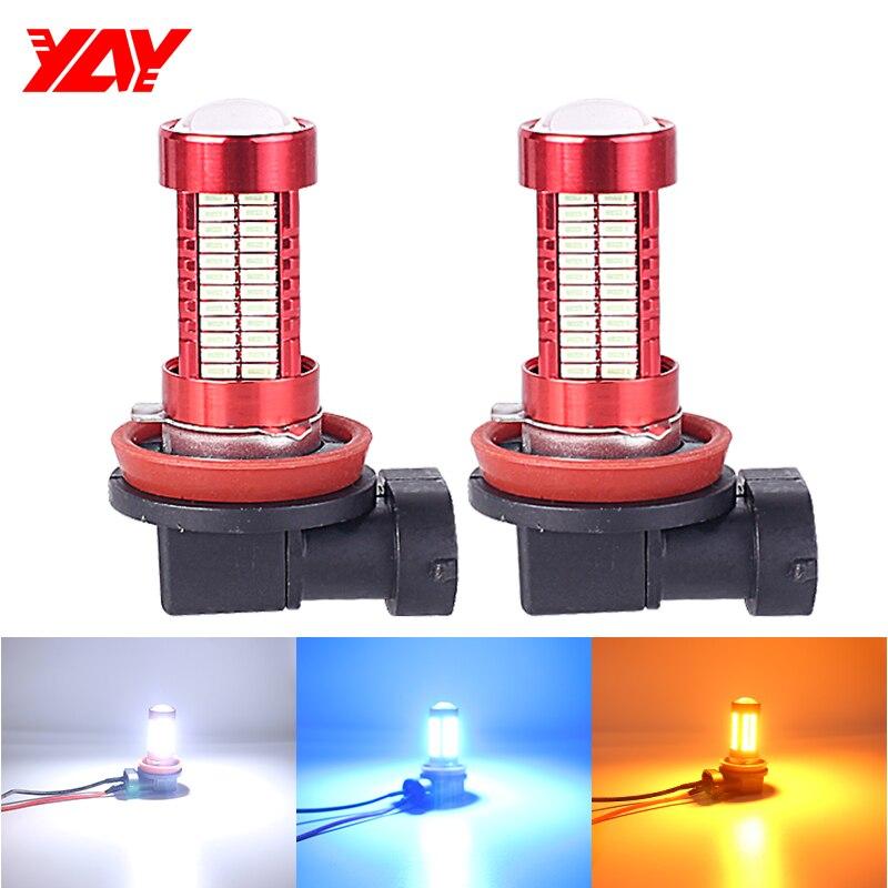 2pcs White H8 H9 H11 6000K High Power LED Bulbs For Fog Lamp Driving DRL Lights