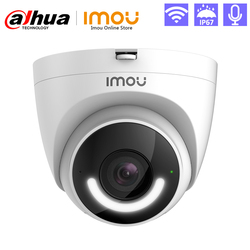 Imou Smart Security IP Camera Turret IP67 Waterproof Active Deterrence Siren Human Detection Built-in Wi-Fi Hotspot Two-Way Talk