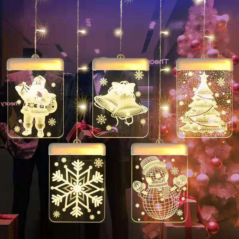 tema de natal led 3d illusion night lights unicornio romantico cortina sincelo fada luz da corda