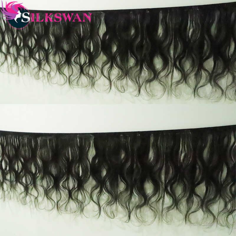 Silkswan שיער 8-32 אינץ 24 26 28 30 32 אינץ חבילות לארוג ברזילאי שיער גוף גל M רמי שיער טבעי צרור טבעי צבע