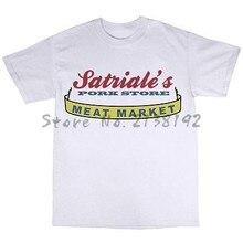 Camiseta 100% algodão da loja de carne de porco de satriale os sopranos tribute masculino camiseta de algodão nova marca