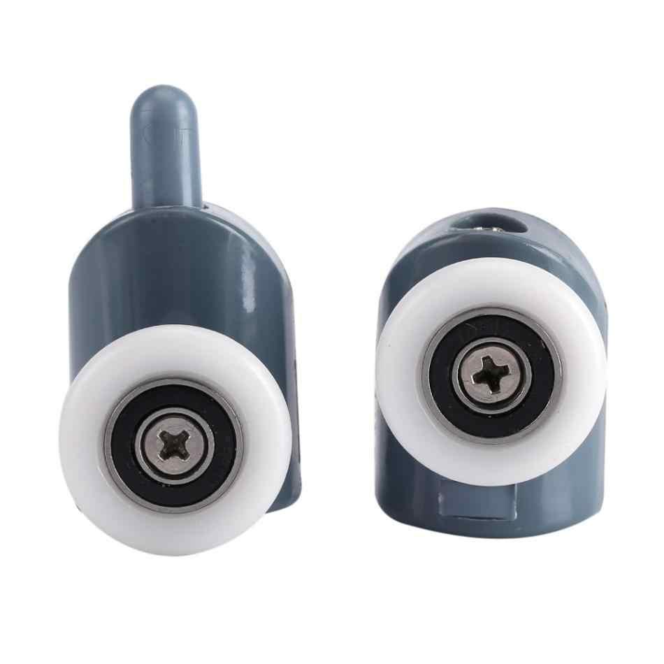1 sztuk prysznic kółka rolkowe Pop Up koło pasowe mosiądz łożysko ze stopu cynku sprzęt przesuwne rolka do drzwi prysznic akcesoria kabiny