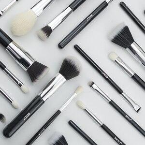 Image 2 - Beili Zwart Geitenhaar Professionele Make Up Kwasten Set Foundation Concealer Oogschaduw Blending Cosmetische Borstel Pinceaux Maquillage