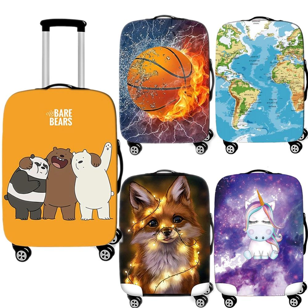 Fashion Cute Luggage Case Protective Cover Creative Waterproof Thicken Elastic Suitcase Cover Apply 18-32Inch Travel Accessories