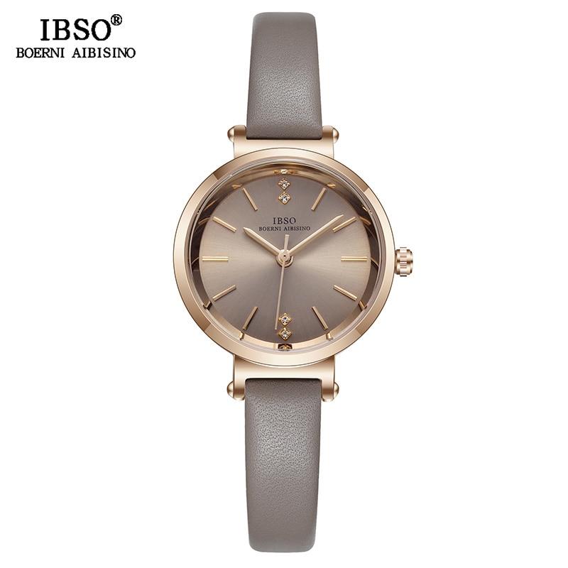 IBSO 8 MM Ultra-Thin Wrist Women Watches Luxury Female Clock Fashion Montre Femme 2020 Ladies Quartz Watch Relogio Feminino 2