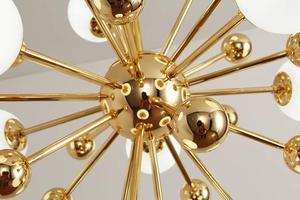 Image 5 - Ganeed Glass LED Chandelier Modern Ceiling Lamp Interior Decor Lighting for Living Dining Room Bedroom Kitchen Home Loft