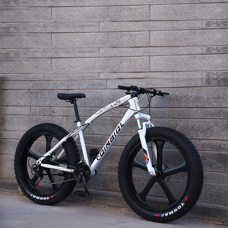 26 Inch Mountain Bike Beach Snow bike 4.0 Super Wide Tires Off-road Bicycles For Boys And Girls Shifting