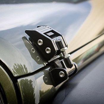 Metalowy silnik zatrzask kapturkowy zaczepy blokujące zestawy dla Jeep Wrangler JK nieograniczony rubikon 2008 2009 2010 2012 2013 2014 2015 2016 2017 tanie i dobre opinie CN (pochodzenie) high quality of Aluminium metal 870g Hood Latch with accessories