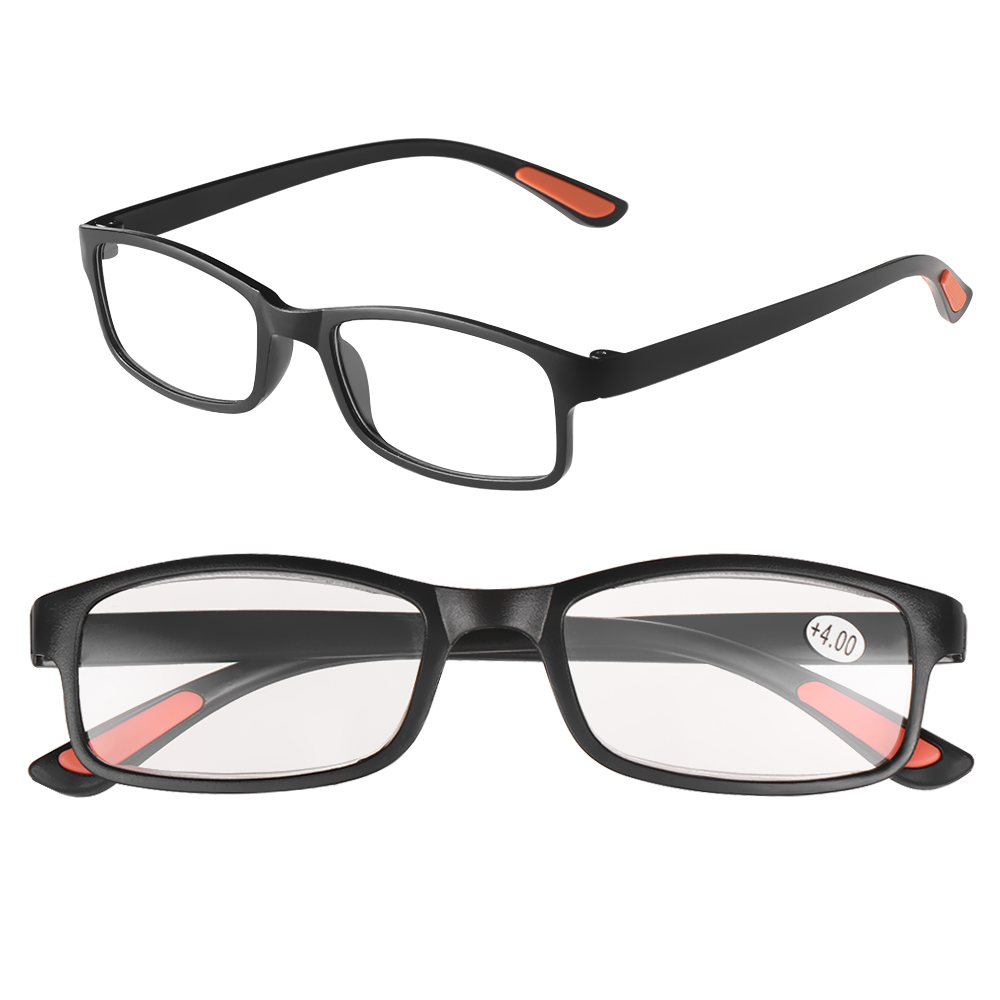 1 Pc New Product Unisex Ultra-light Reading Glasses Fashion Vision Care Resin Flexible Magnifying Anti-skidding Presbyopic+1.0~+