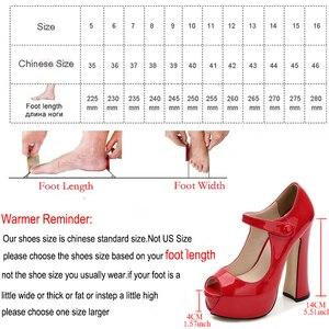 Image 5 - Maiernisi bombas sapatos femininos boca de peixe plataforma bomba sólida salto alto 14cm sapatos bombas sexy rasas único senhoras sapatos