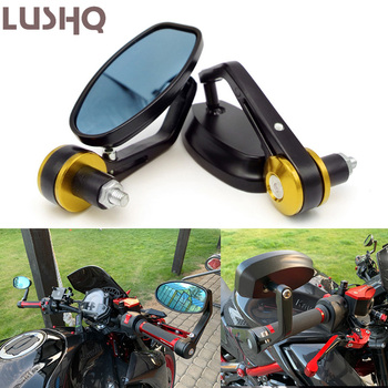 Motorcycle Bar End Mirror Moto Rearview Mirrors For SUZUKI gsf 650 gsxf escudo gsx s 750 ltz 400 boulevard m109r gsr 750 image