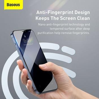 Закаленное стекло Baseus 2 шт. 0,23 мм для iPhone 12 11 Pro XS Max XR X 6