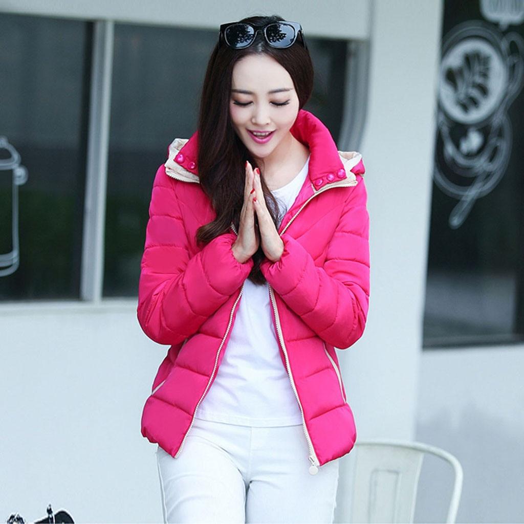 H98ca605a57464734b7b5067762d6285cn fashion Women's Jackets Hooded Thickening Slim Outwear Winter Warm Casual Short Jacket Women Coat Outwear Tops