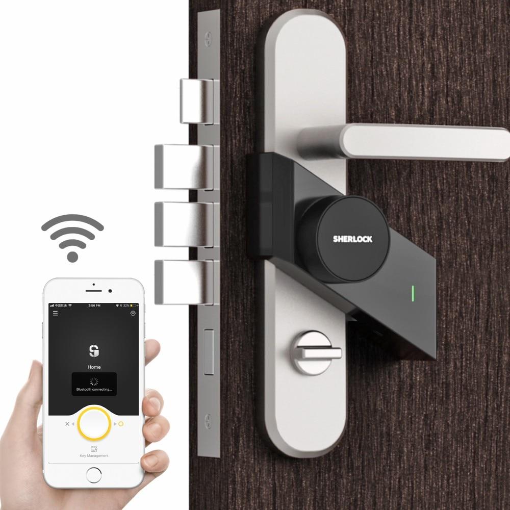 Smart Door Lock Sherlock Home Keyless Wireless Bluetooth Integrated Electronic Lock Phone App  Control