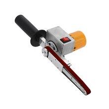 Mini meuleuse à bande ponceuse à bande à main meulage du bois ponçage d'angle étroit Machine de polissage meuleuse d'angle Micro bricolage outil