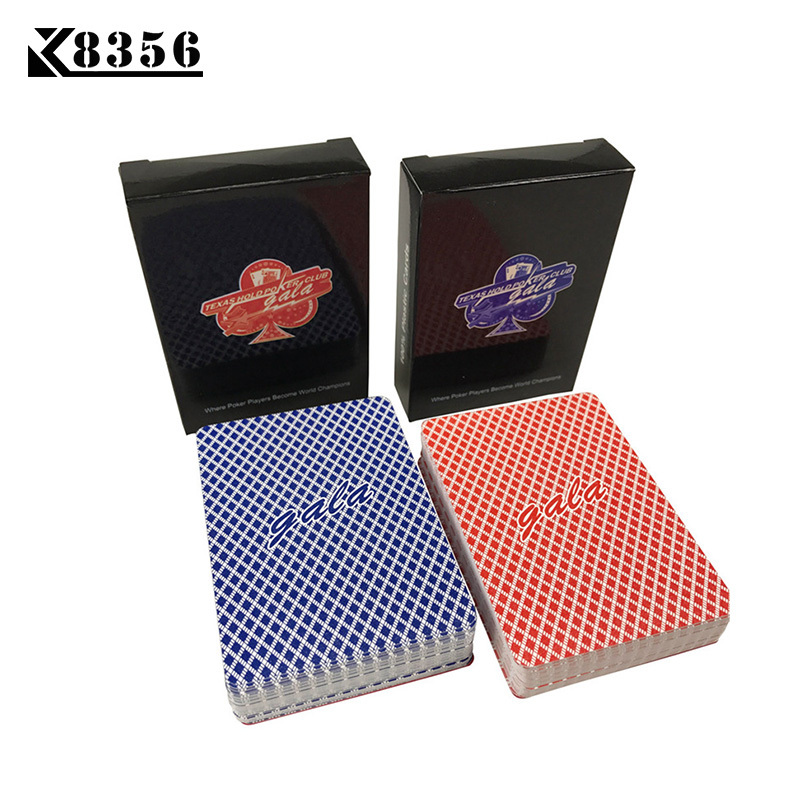 K8356 GALA 2Sets/Lot Baccarat Plastic Waterproof Frosting Playing Card Game Texas Hold'em Poker Cards Board Games 2.48*3.46 inch image