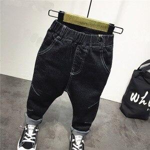 Image 5 - Vêtements de marque pour garçons et garçons, ensemble 3 pièces en coton, veste en Jean, sweat à capuche et jeans, avec lettres, offre spéciale