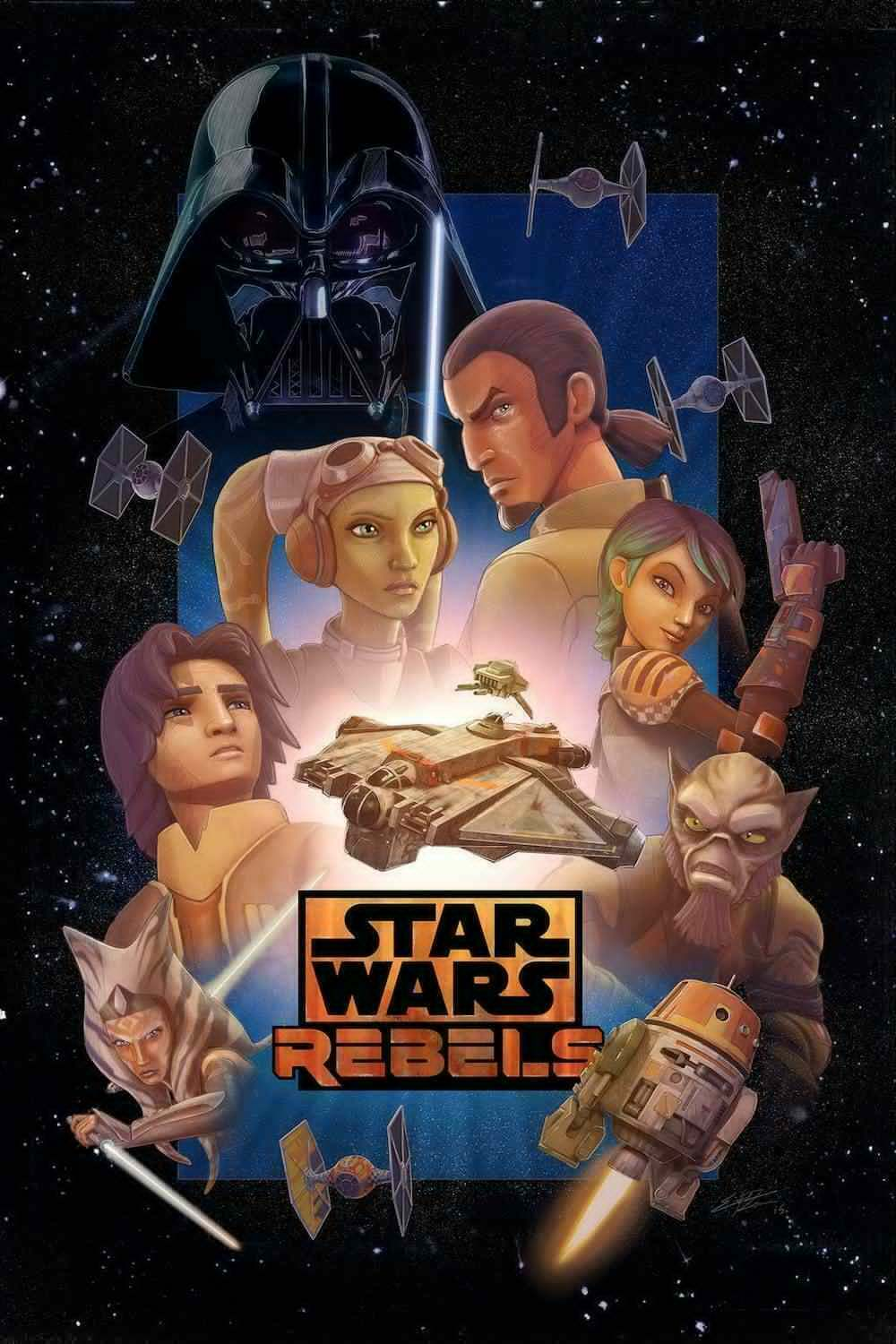 STAR WARS REBELS MOVIE Art Film Print Silk Poster Home Wall Decor 24x36inch image