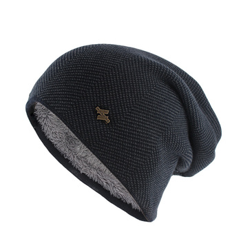 New Fashion Adult Men Winter Warm Hat For Unisex Knitted Casual Beanies Skullies Cotton Wool Hats Brand Outdoor Solid Gorros