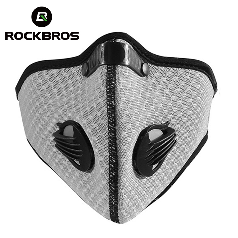 ROCKBROS Breathable Anti-dust Outdoor Sports Winter Antipollution Cycling Motorcycle Bike Cover Face Mask Face Shield