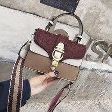 цена на 2020 new female bag wild lock buckle shoulder bag wide shoulder strap stereotype handbag crossbody bag