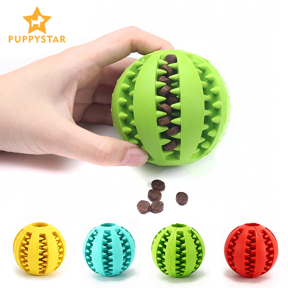 Ball Toy For Dogs Pet Dog Toys For Small Large Dogs Chihuahua Rubber Dog Chew Toys Toothbrush Interactive Food Ball Pet Products image