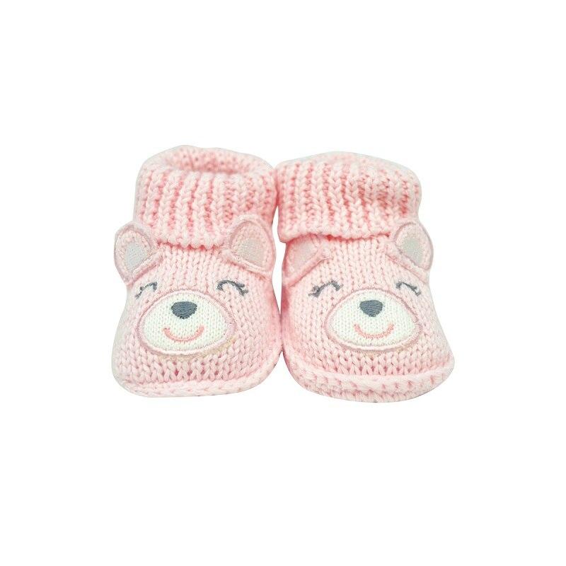 Детские носочки с медведем для малышей, обувь для девочек, для новорожденных, для малышей, с рисунками животных, для комфортной обуви