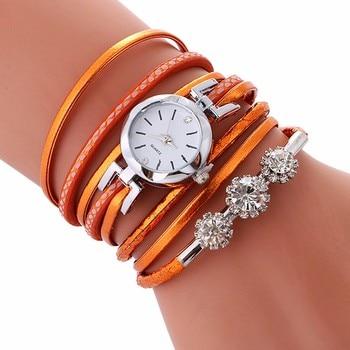 Reloj de pulsera para mujer, Reloj de círculo de diamantes, regalo sencillo y elegante, diseño Retro, Reloj de pulsera femenino