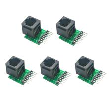 5pcs RJ45 8-pin Connector and Breakout Board Kit wifi232 eval kit wifi232 b usb to uart development kit wifi501 evaluation board with rj45 ethernet rs485 connector