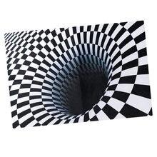 Черный и белый 3d визуальный эффект коврик для спальни ковер
