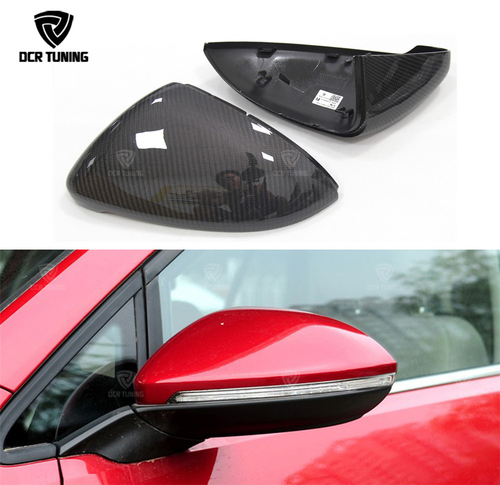 1:1 Replace Style For Volkswagen for VW Golf 7 MK7 R Gti for VW Golf 6 GTI R20 for VW Golf 5 Carbon Fiber Rear View Mirror Cover(China)
