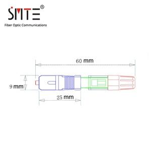 Image 5 - 100pcs/lot ZF 8802 TLC/3 60mm connector SC/APC Optical fiber connector FTTH Fiber optic