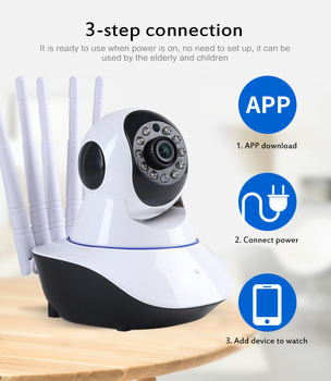 Wireless IP Camera HD 1080P Pan Tilt Dome Indoor Two Way Audio CCTV WiFi Camera Baby Monitor Video Security Surveillance image