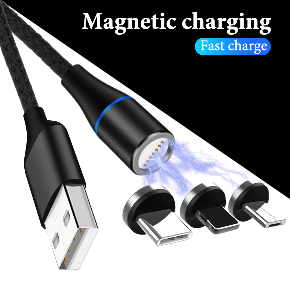 Magnetic USB Cable Fast Charging USB Type C Cable Magnet Charger Data Micro USB Phone Cable USB Cord Support data transmission