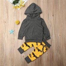 Одежда для новорожденных мальчиков; коллекция года; сезон осень-зима; спортивные костюмы для мальчиков; серый свитер с капюшоном «летучая мышь»; топы; штаны; одежда для маленьких мальчиков