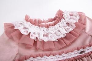 Image 3 - Pettigirl Lace Hem Baby Clothing Set With Velvet Bonnet  Clothes Toddler Boutique Outfit G DMCS206 A348