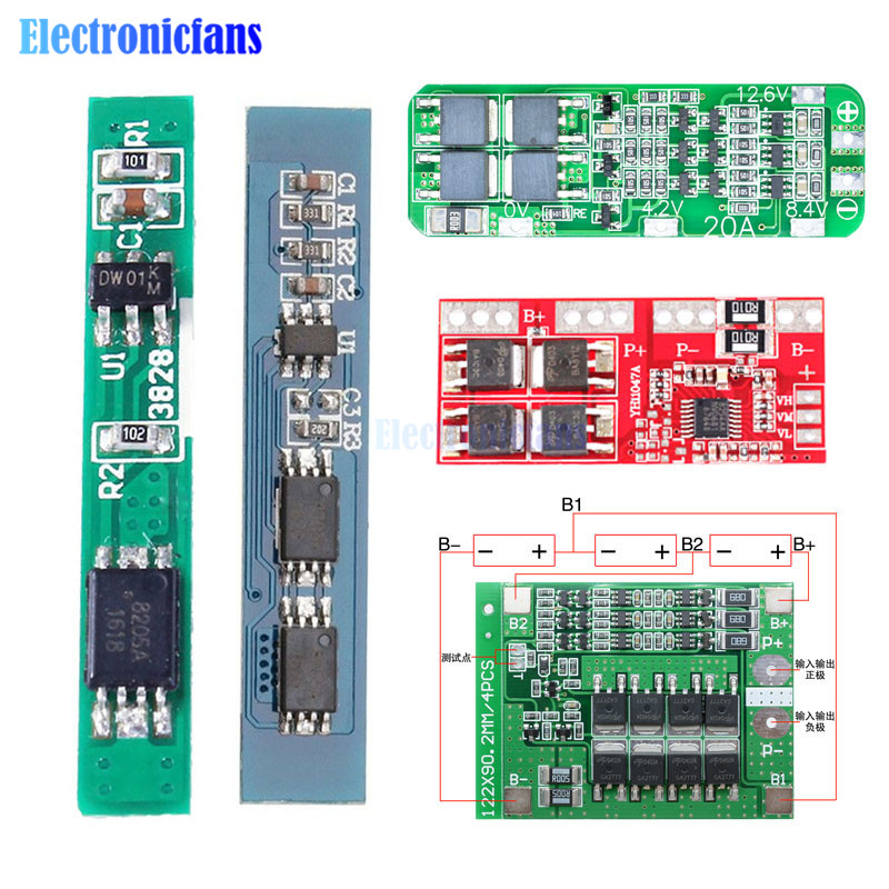 1S 2S 3S 4S 5S 6S 3A 15A 20A 30A Li-ion Lithium Battery 18650 Charger PCB BMS Protection Board For Drill Motor Lipo Cell Module image
