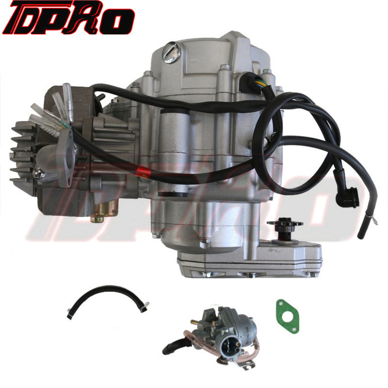 TDPRO 4 Stroke 35cc <font><b>Motor</b></font> Engine Kit Electric Start + Racing Carburetor For 50CC <font><b>110CC</b></font> Mini <font><b>ATV</b></font> Quad Go Kart Buggy Pocket Bike image