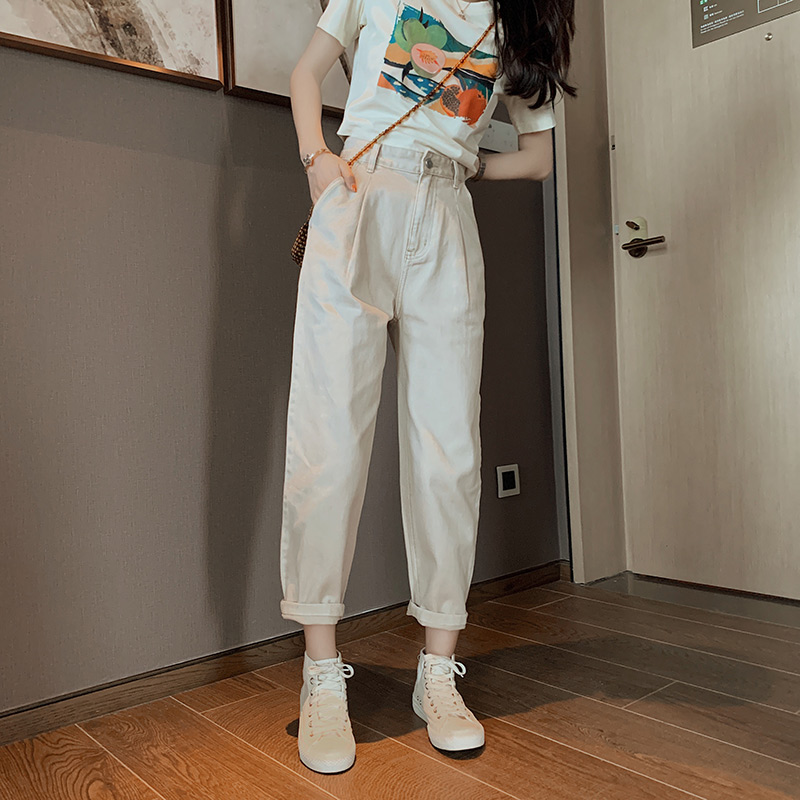 MISHOW 2020 Summer New Pencil Pants Women Casual High Waist Solid Trousers Female MX20B2165