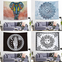 European and American style tapestry Art wall series background tapestry mural sunflower tapestry wall hanging wall tapestry fire and water butterfly pattern wall art tapestry